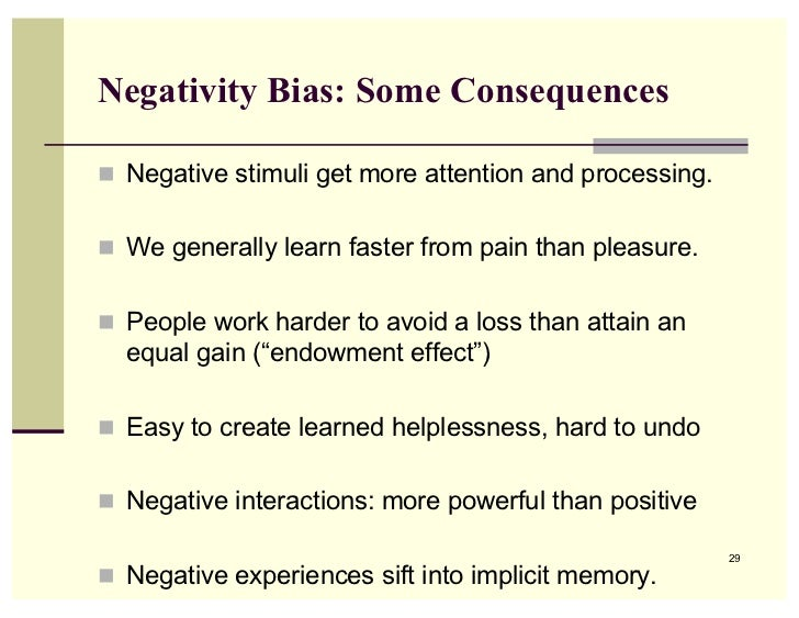 The Negativity Bias And Taking In The Good