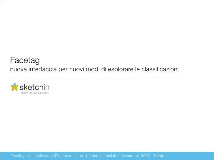 Facetag nuova interfaccia per nuovi modi di esplorare le classificazioni     Facetag - Luca Mascaro (Sketchin) - Italian in...