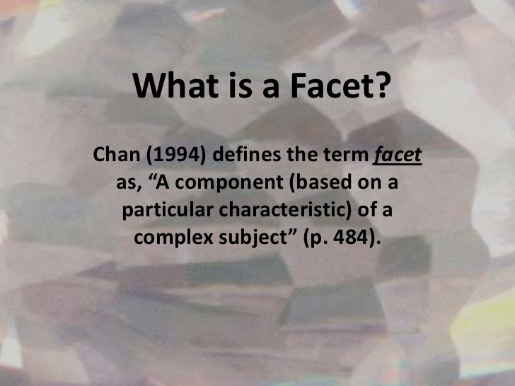 define facet