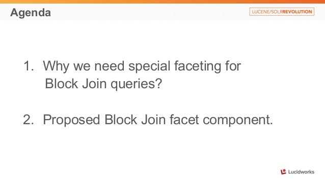 Faceting with Lucene Block Join Query: Presented by Oleg Savrasov, Grid Dynamics Slide 3