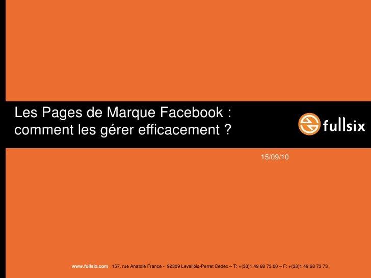 Face to facebook 2   community management- short fr