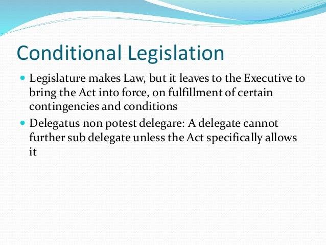 conditional legislation