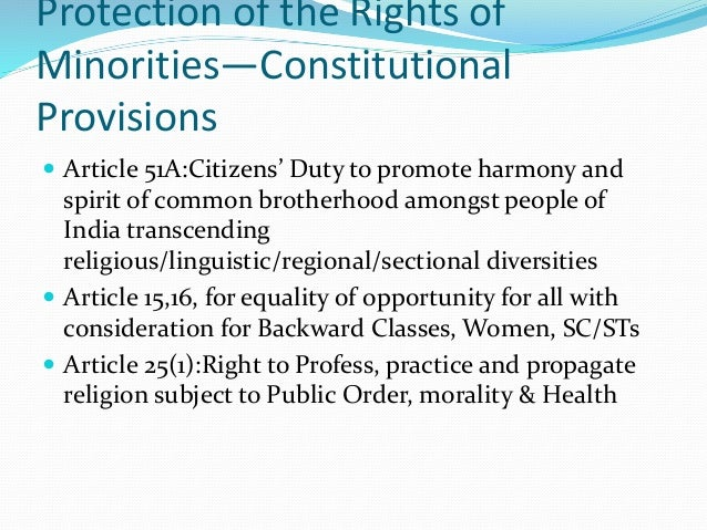 rights about minorities essay