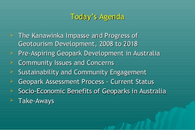 Geoparks Initiatives in Australia Slide 2