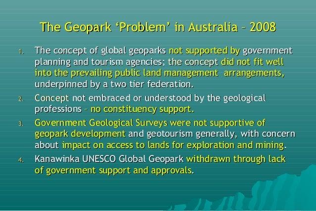 Geoparks Initiatives in Australia Slide 3