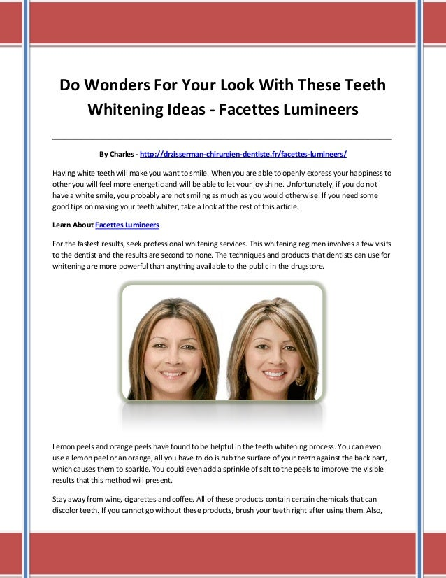 Do Wonders For Your Look With These Teeth Whitening Ideas - Facettes Lumineers ___________________________________________...