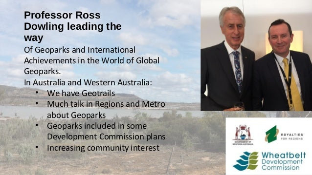 Geoparks Initiatives in Western Australia - Alan Briggs Slide 3