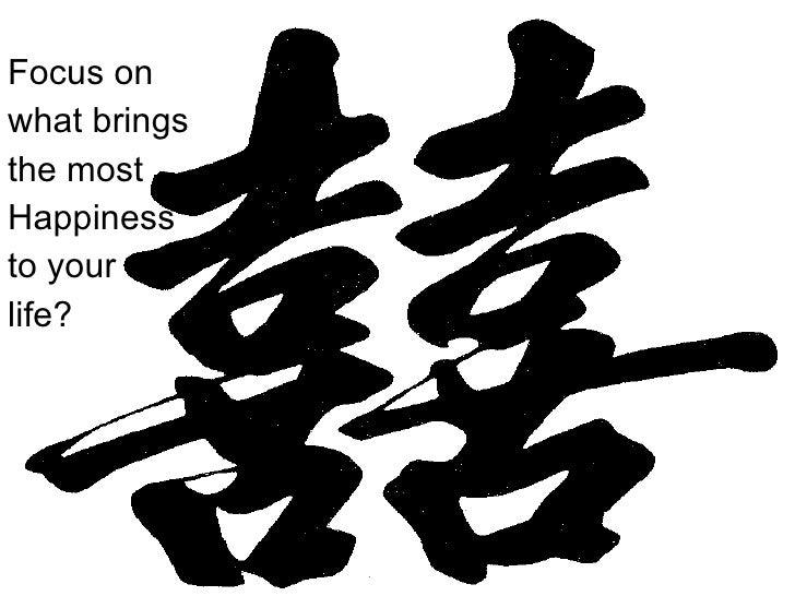 <ul><li>Focus on </li></ul><ul><li>what brings </li></ul><ul><li>the most </li></ul><ul><li>Happiness </li></ul><ul><li>to...
