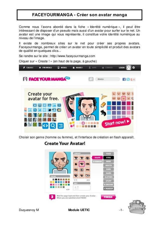 faceyourmanga cr er son avatar manga. Black Bedroom Furniture Sets. Home Design Ideas
