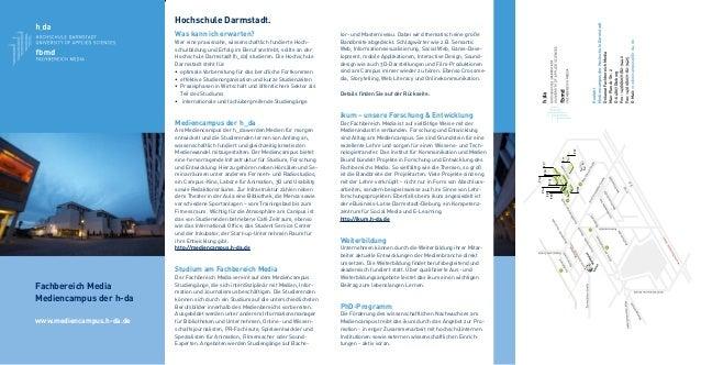 Kontakt MediencampusderHochschuleDarmstadt DekanatFachbereichMedia Max-Planck-Str.2 D-64807Dieburg Fon:+49(0)6071/82-9442 ...