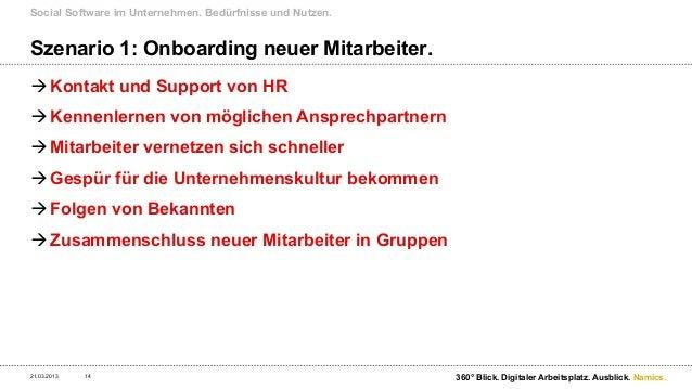 Social Software im Unternehmen. Bedürfnisse und Nutzen.Szenario 2: Problemlösung beschleunigen.21.03.2013   15            ...