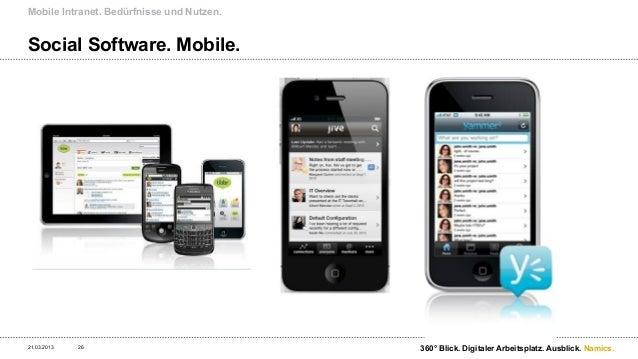 Mobile Intranet. Bedürfnisse und Nutzen.Beispiel KPMG – Prototyp mobile Intranet.21.03.2013   27                          ...