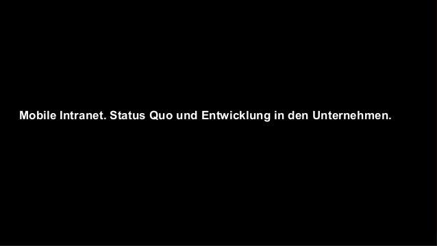 Status Quo und Entwicklung in den Unternehmen.Mobile Services – Zielgruppen.         Führungskräfte, Management           ...