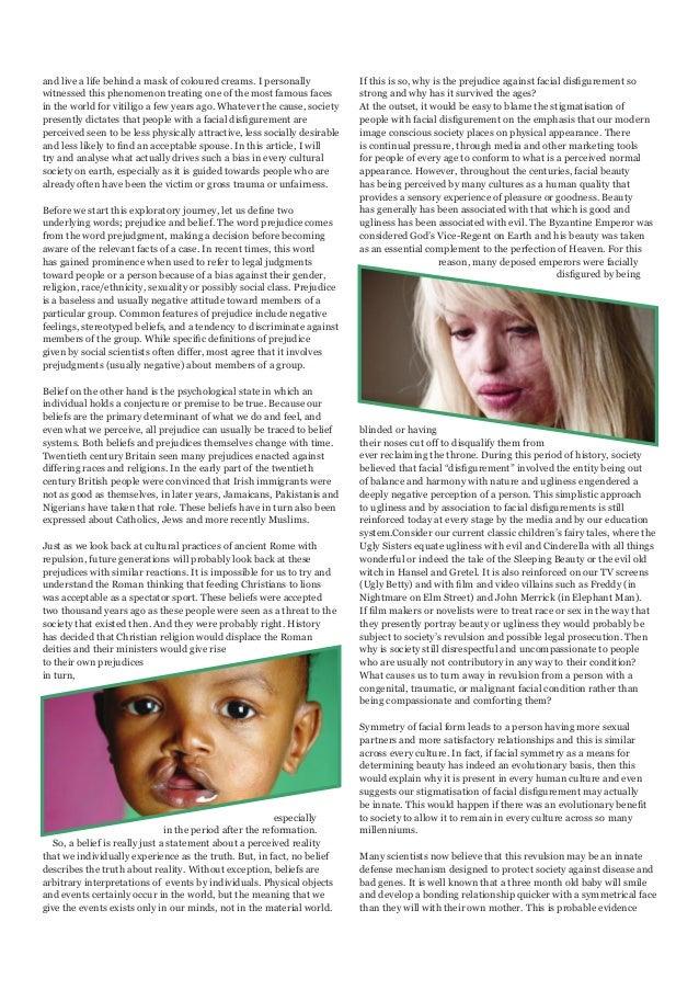 living with facial disfigurement