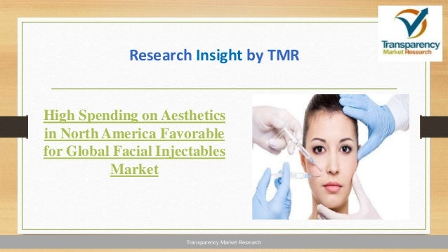 Transparency Market Research High Spending on Aesthetics in North America Favorable for Global Facial Injectables Market R...