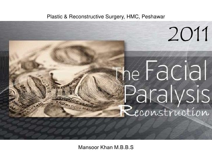 Plastic & Reconstructive Surgery, HMC, Peshawar<br />2011<br />Mansoor Khan M.B.B.S<br />