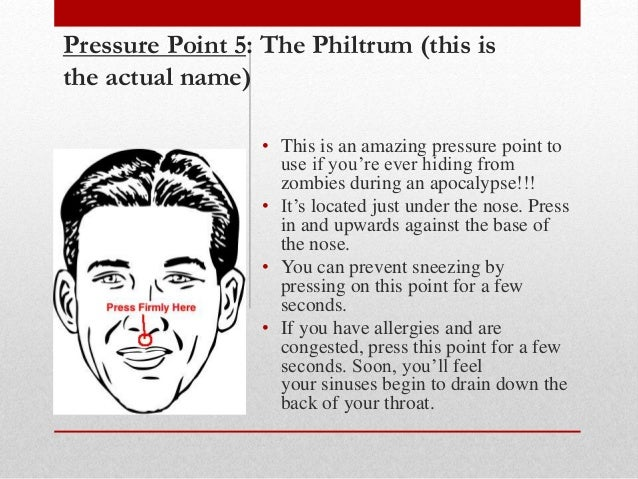 Facial pressure points