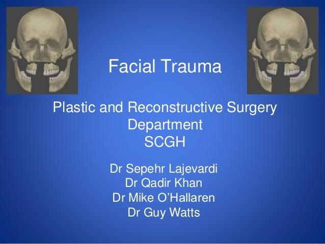 Facial fracture slideshows