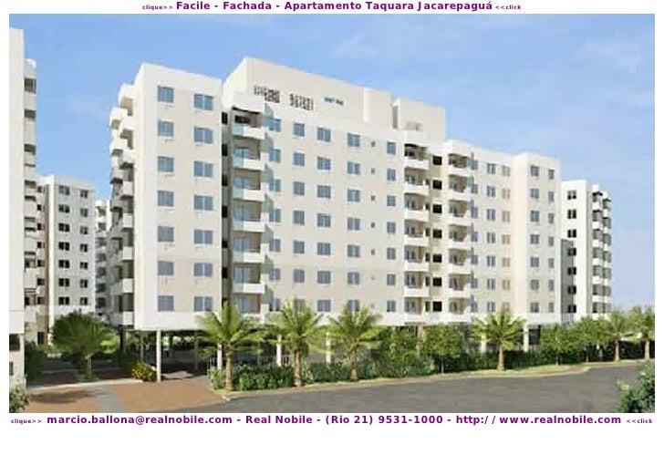 Facile - Fachada - Apartamento Taquara Jacarepaguá <<click                           clique>>                marcio.ballon...