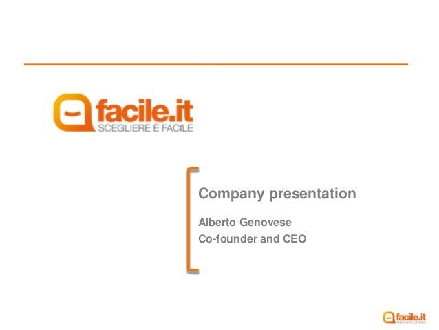 Company presentationAlberto GenoveseCo-founder and CEO