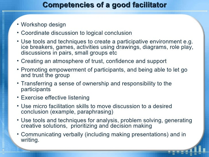 how to be a good facilitator pdf