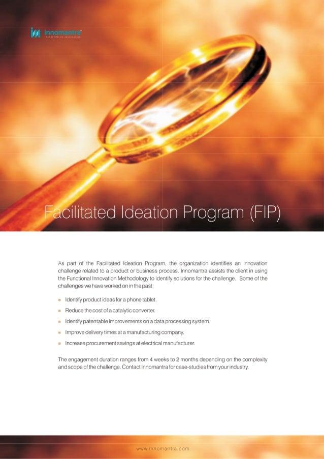 Facilitated Ideation Program - Innomantra