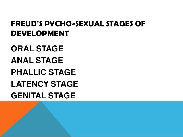 phychosexual stages