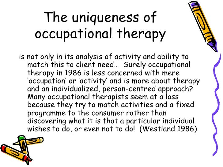 an analysis of the occupational therapists Of occupational therapy presented in canadian newspapers may be one   criteria 1 were used for qualitative data analysis (sections 32 and.