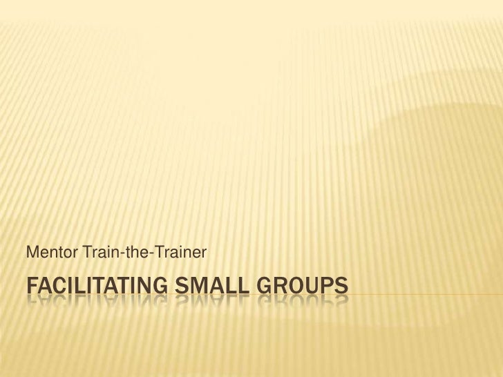 Facilitating Small Groups<br />Mentor Train-the-Trainer<br />