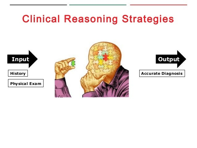 clinical reasoning essays Abstract clinical reasoning is the thinking process that escorts clinical practice, it is a multifaceted skill the aim of this report is to use clinical reasoning to comment on a case of medial compartment one-sided knee osteoarthritis.
