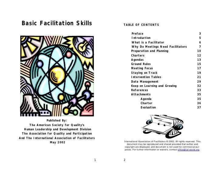 Basic Facilitation Skills                          TABLE OF CONTENTS                                                      ...
