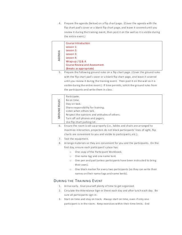 Facilitator Guide Template Word Gallery - Template Design Ideas