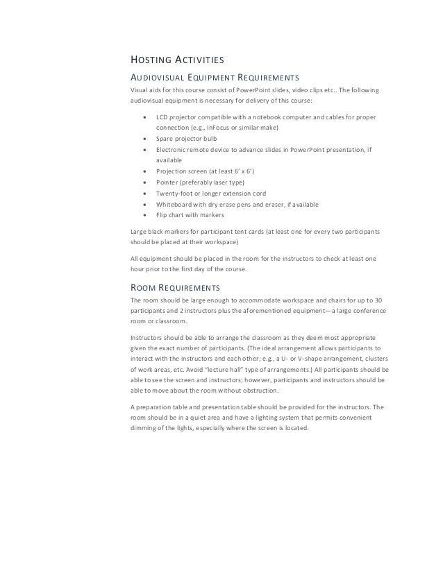 facilitation plan template - facilitator guide template