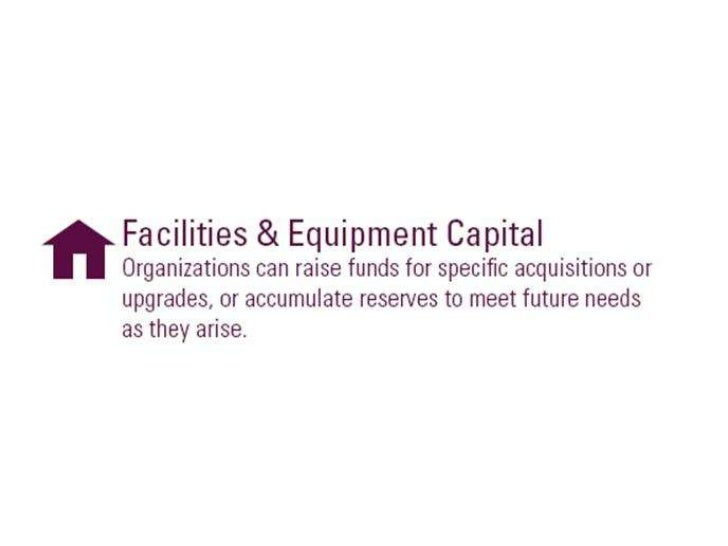 Facilities and equipment capital