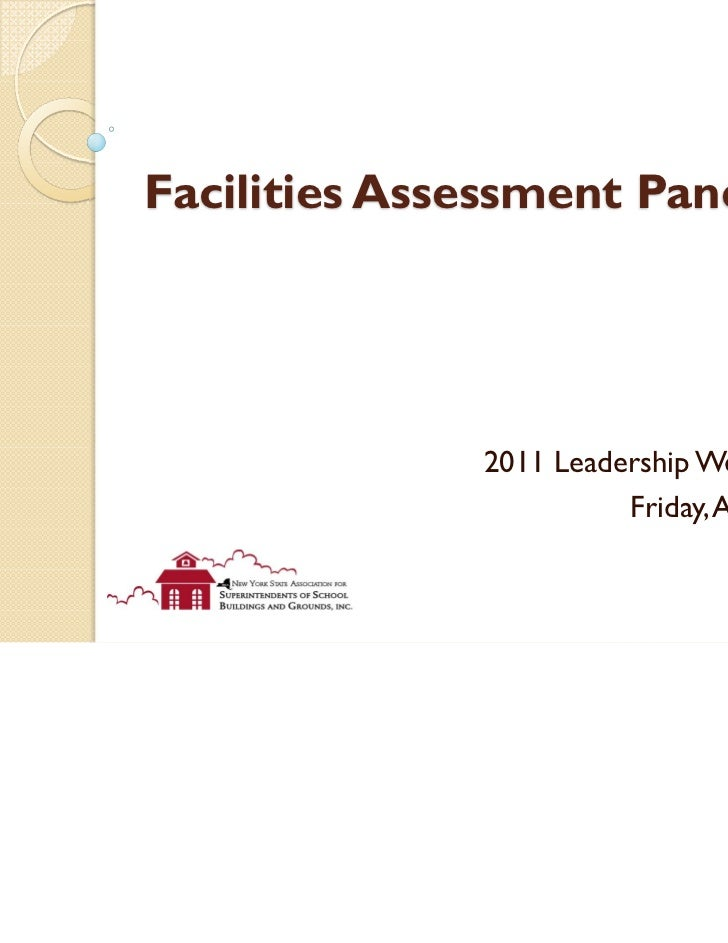 Facilities Assessment Panel              2011 Leadership Weekend                        Friday, April 29