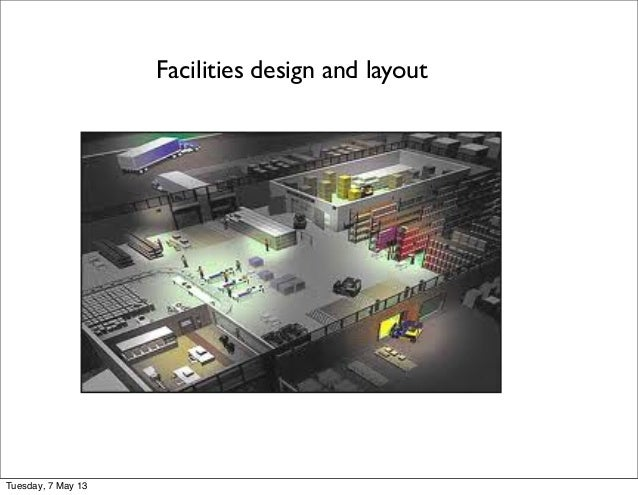 Facilities design and layoutTuesday, 7 May 13