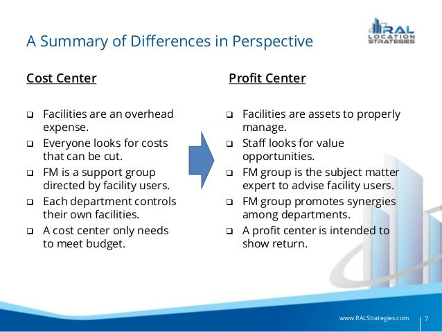 facilities management as a profit center
