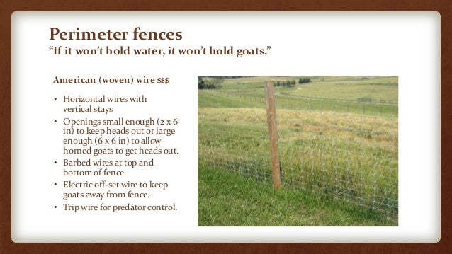 Facilities For Small Scale Goat Farms