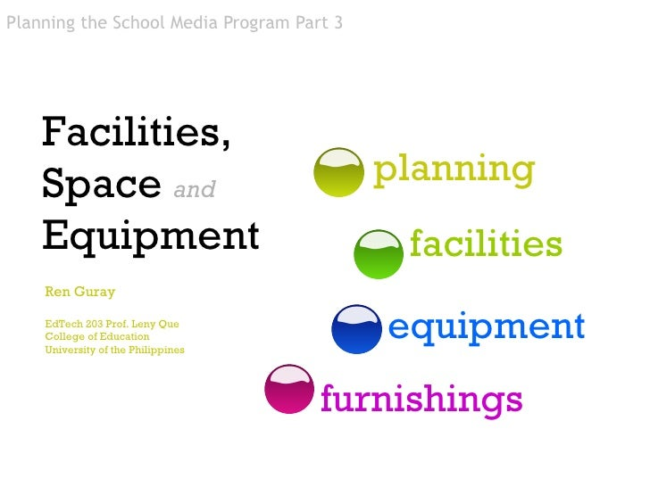 facilities planning A successful facility begins with building a strong foundation good planning & design begins with an effective architectural program defining space, utility and budget requirements are accomplished in five distinct steps.