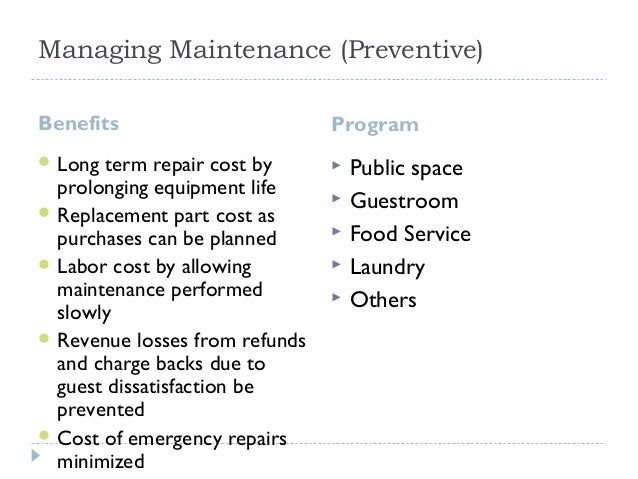 Facility engineering and Maintenance