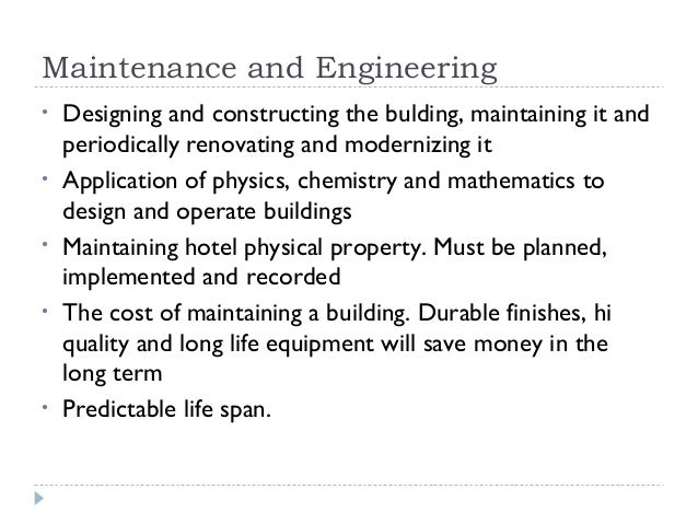 Facility engineering and Maintenance