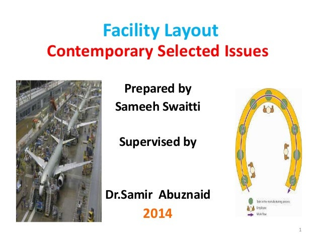 Facility Layout  Contemporary Selected Issues  Prepared by  Sameeh Swaitti  Supervised by  Dr.Samir Abuznaid  2014  1
