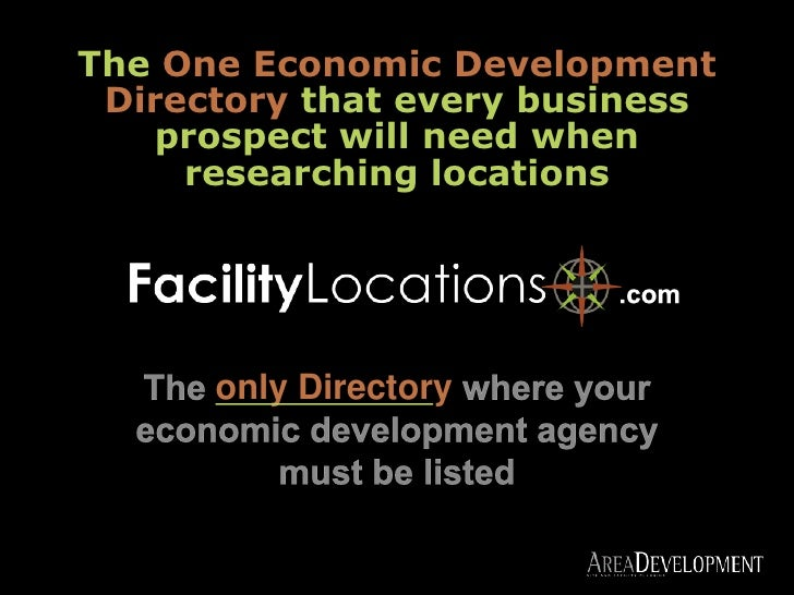 TheOne Economic Development Directory thatevery business prospect will need when researching locations<br />.com<br />The ...