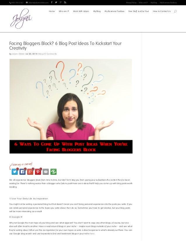 845-750-2167  Jolynn@jolynnoblak.com     Privacy Policy Who am I? My Blog My Business Toolbox Facing Bloggers Block?...