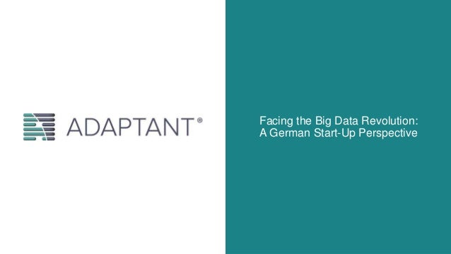 Facing the Big Data Revolution: A German Start-Up Perspective