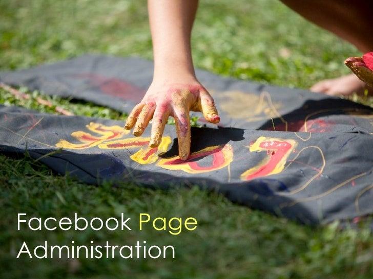 Facebook PageAdministration