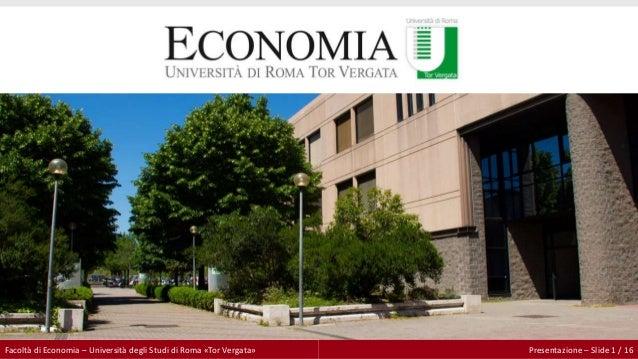 Facolt di economia universit degli studi di roma tor for Elenco studi di architettura roma