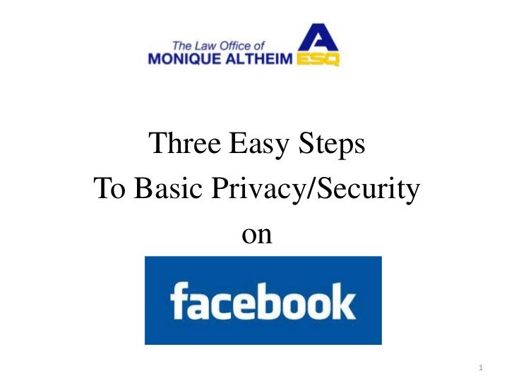 Three Easy StepsTo Basic Privacy/Security           on                            1
