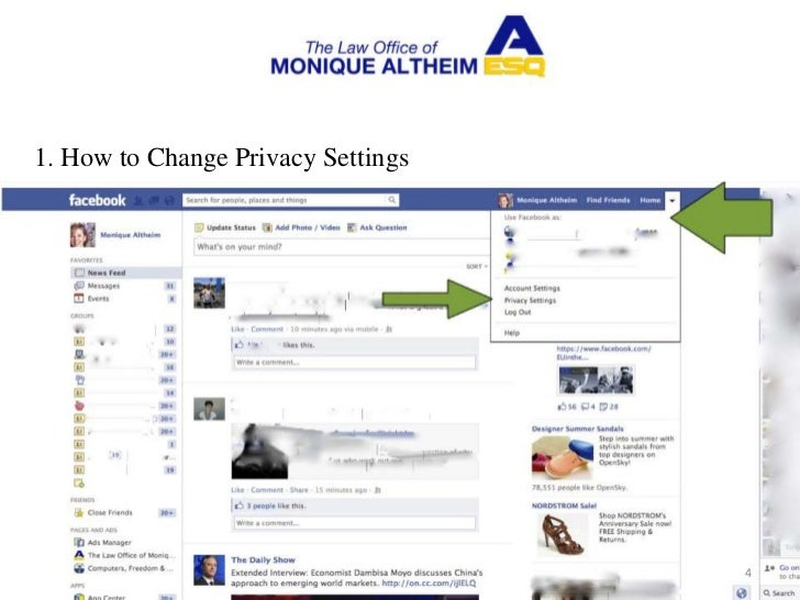 how to change my public profile settings facebook