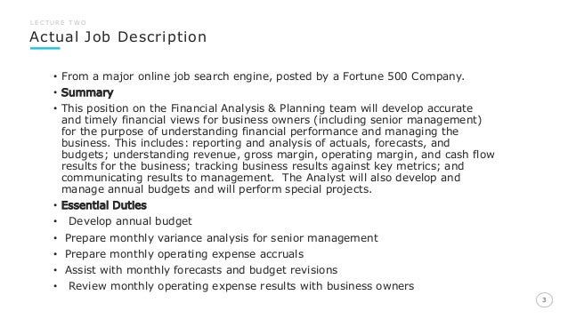corporate finance job description - Template